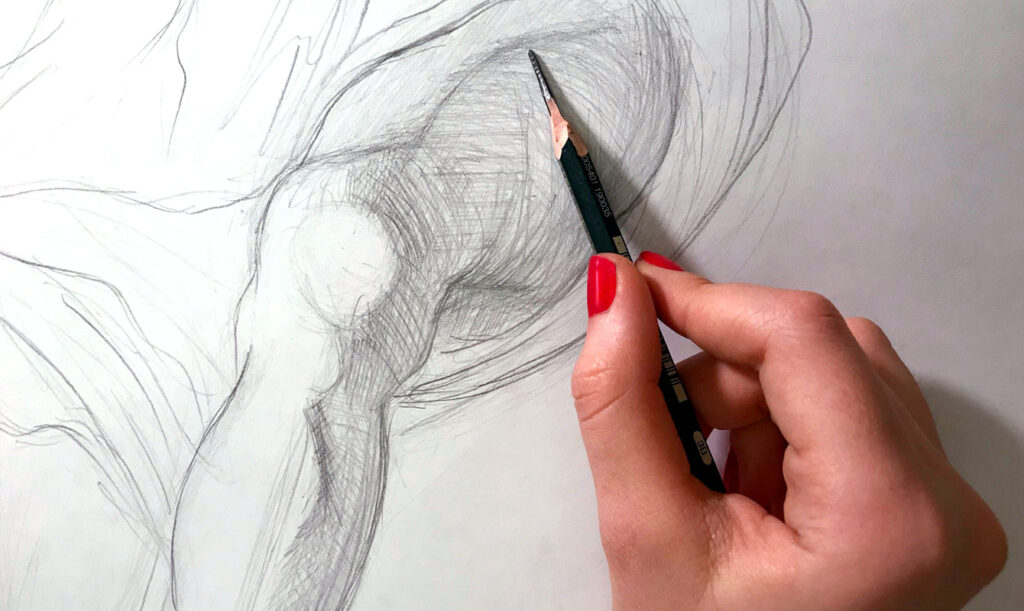 Draw Without Seeing On Paper