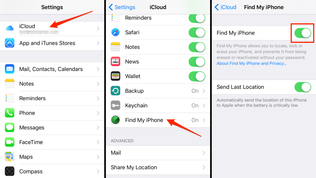 Where Is Find My iPhone In Settings
